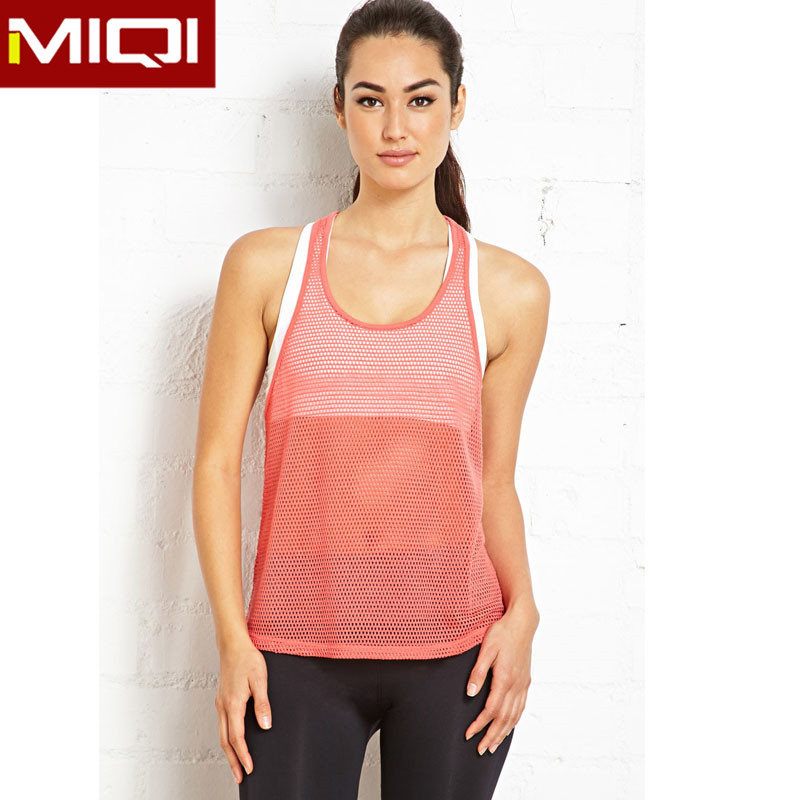 Wholesale Tank Top Womens Custom Sports/Gym Singlets With Personal Label/Logo