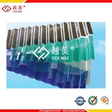clear color polycarbonate corrugated plastic roofing sheets plastic for greenhouse