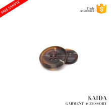 KAIDA New Matte handmade Marbling patterns custom fashion designer clothing resin buttons with low price