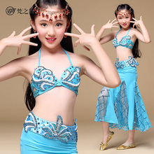 ET-140 Hot products bra and skirt set children professional belly dance costume