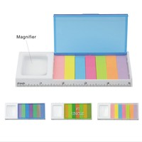MagnifIer/Sticky Notes/Ruler/Case Stationery Set