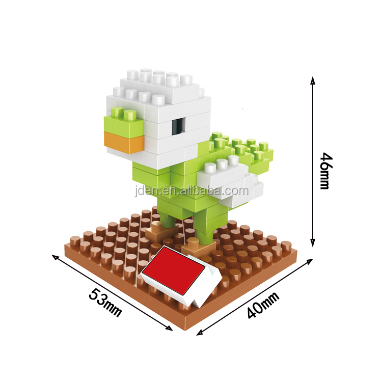 HSANHE French Educational Plastic Bird and Frog Homemade building blocks toys