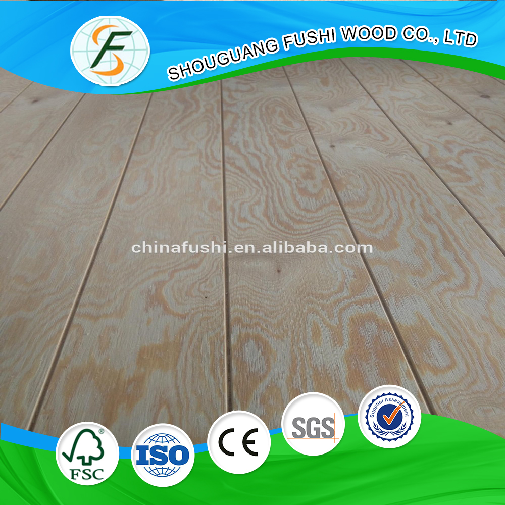 Hot sell U groove / slot plywood used for decoration