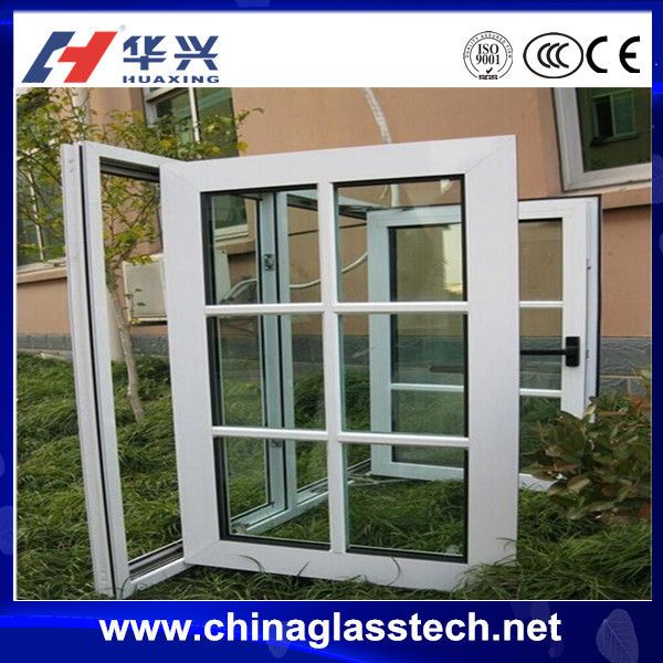 Australia standard environment friendly white upvc profile insulated glass anti theft window with safety grill