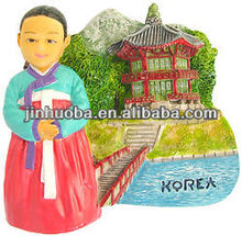 Korean traditional dress hanbok korea resin car magnet