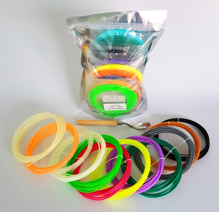 PLA <strong>ABS</strong> 1.75mm 3D printer filament refills for 3d pen 12 Colors each Pack including Silicone Mat and Spatula