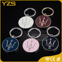 high quality wholesale factory metal custom-made epoxy key chain