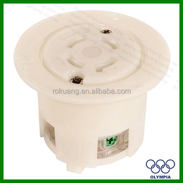 NEMA L17-30 Flanged power outlet