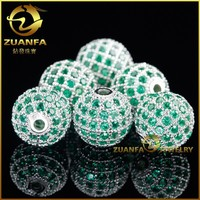 wholesale 10mm micro pave cubic zirconia ball bead