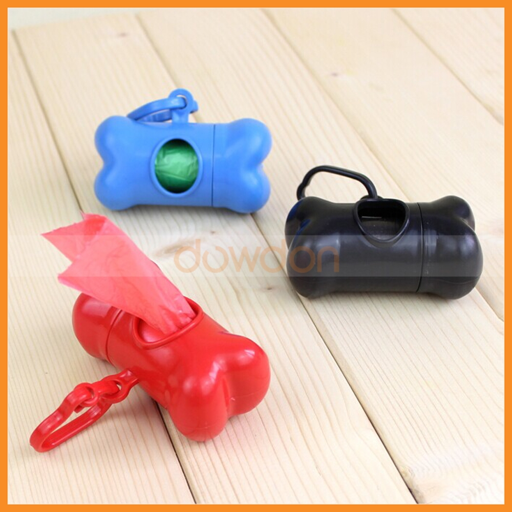 Bone Shaped Pet Dog Waste Poop Pick up Bag Dispenser