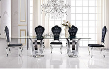 foshan long luxury dining table /luxury living room furniture