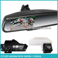 2014 Newest Car Rearview Mirror with Front and Rearview Camera and Built-in 4.3 Inch Monitor / Bluetooth