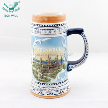 New style promotional custom ceramic copper beer mug