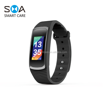 2018 New Colorful Screen Full Touch 3ATM Waterproof USB Charging Smart Bracelet Fitness Tracker