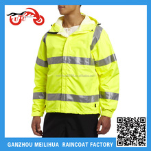 ANSI Class 3 Men's High Visibility 100% Waterproof 3M Reflective Winter Safety Bomber Jacket