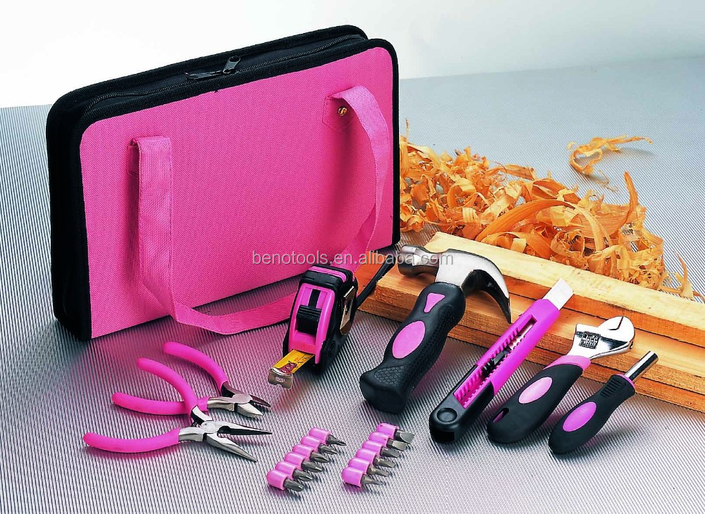 Portable durable tote tool bag with 20pcs hand tool set from Beno Tool Factory