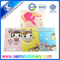 Lovely stationery kids PVC cover cartoon inner page notebook