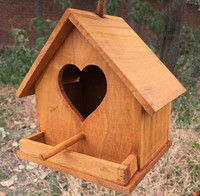 New design multi shape high grade wooden bird nest,bird house