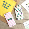 Manufacturing Korean Simple Cactus Printing TPU Shockproof Phone Case for iphone