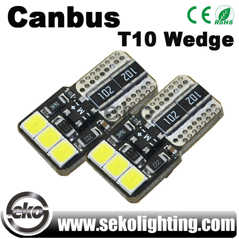 New design led car lamp white w5w t10 6smd led lamp light bulb for car