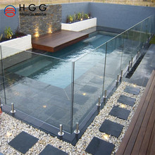 Tempered swimming pool glass fence/glass railing/glass balustrade