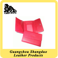 High Quality Competitive Price Colorful Leather Trifold Lady Long Wallet