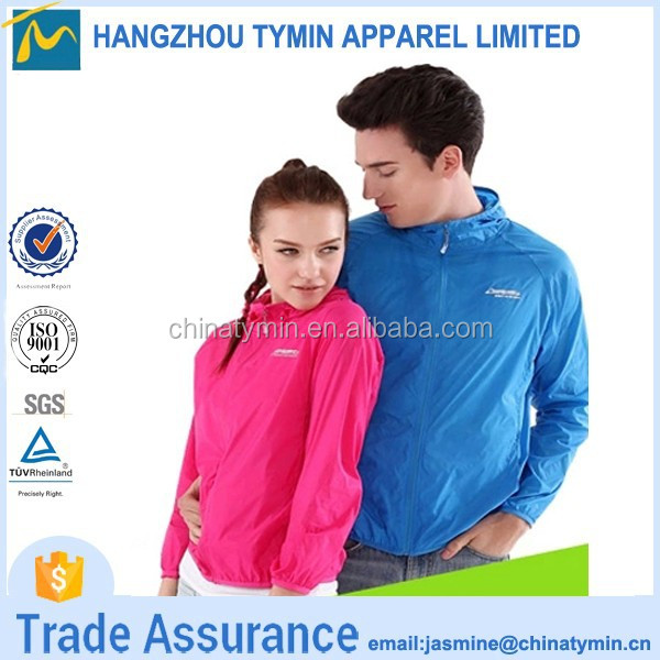 Hot sale anti uv new product 2015 outfits for couples skin jacket
