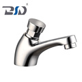 New Brass Chrome Delay Self-closing Basin Sink Bathroom Faucet Single cold Tap