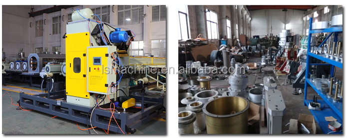 Plastic pipe extrusion machine HDPE pipe production line