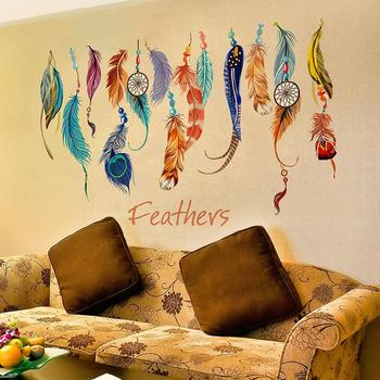 Flying Feather Wall Stickers Home Decor Home Decoration Wallpaper Wall Sticker Ral-Bedroom-Living ZY044