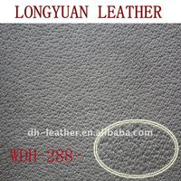 Synthetic PU leather fabric with pig skin grain for shoes lining