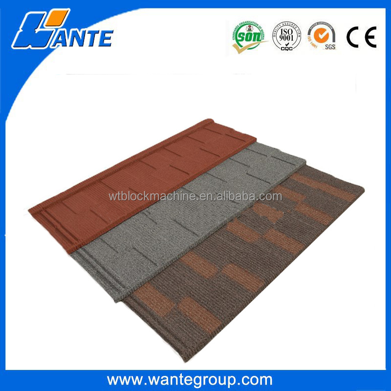 50 years warranty building materials roof sheets / aluminium colorful stone coated metal roof tiles
