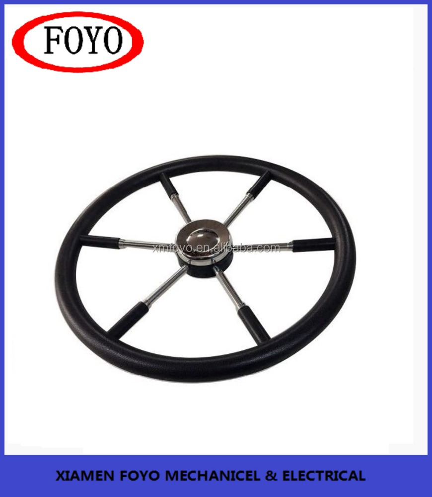 yacht boat SS304 steering wheel with black sleeve