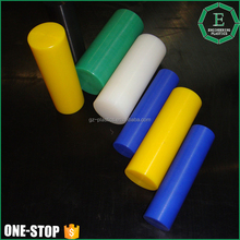 Machined solid customized size rigid pvc round bar peek stick welding color polycarbon nylon pvc abs plastic rod