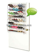 24 pairs over the door metal shoe rack