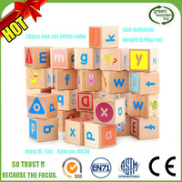 3cm Kids 3D Wooden Alphabet ABC