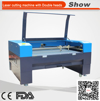 AZ-1080D double heads cnc laser cutting machine 1080 80w for weding card business card