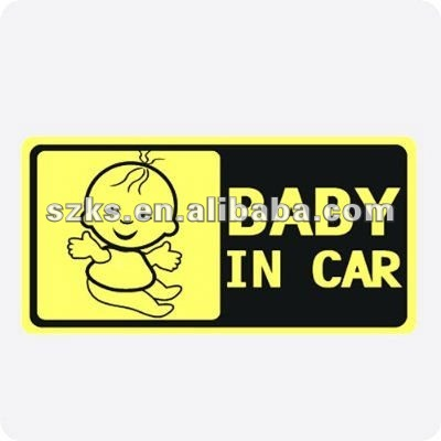 """baby in car""self-adhesive label & remindind car sticker"