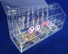 acrylic cosmetic display with 3 tiers multifunction jewelry rack