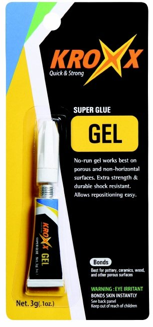 Kroxx Gel Superglue, Adhesive, Cyanoacrylate