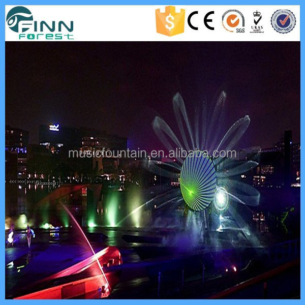 Magnificent 3d Water Screen Movie Fountain Laser Show