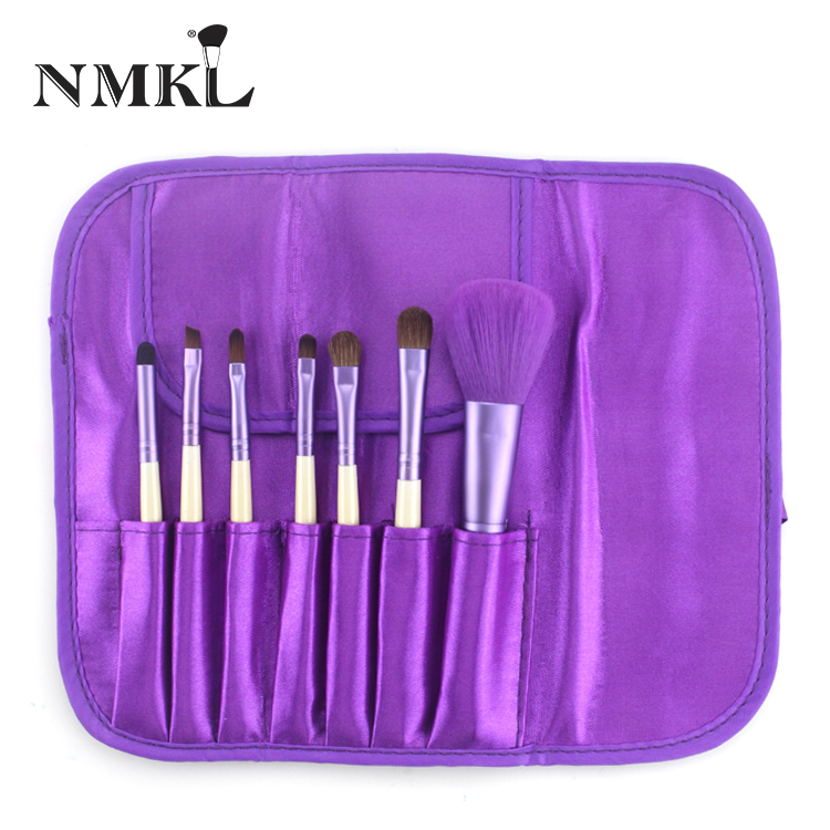 Pro 7pcs Hot-selling High Quality Purple Make Up Brush Set Color With Case