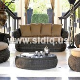 SAR005-Home rattan furniture rattan sofa furniture sofa set