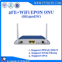 2FE+WiFi GEPON ONU Wireless Router Fiber Optic Networking Equipment with Double WiFi Antenna for Smart Home Solution