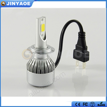 High power and canbus C6 led headlight bulb 36w 3800lm H7 led headlight kit