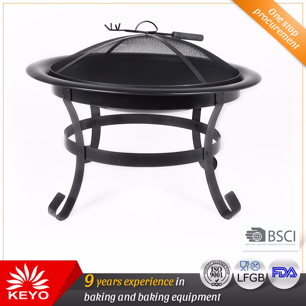 Easily Assemble Garden Patio Used Antique Style Charcoal Wrought Iron Wood Burning Fire Pit