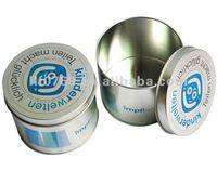round tin canister tin can with lid