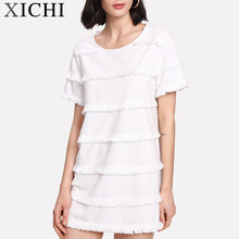 Korean clothes live fit mini dress in short sleeve