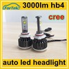 12v 30w high power led 3000lm 9006 hb4 cree led