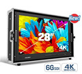 "28"" 4K Broadcast Director Monitor with 6G-SDI, HDMI, VGA & DVI inputs"